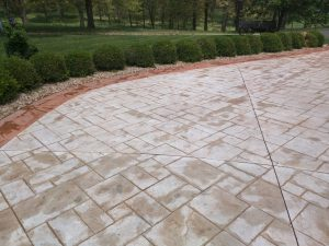 Patio with concrete blocks after sealing by seal smart