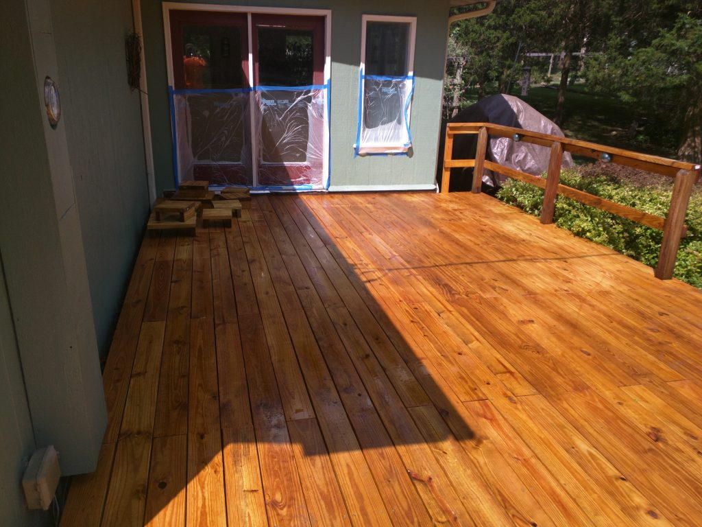 Deck sealed with professional wood sealant