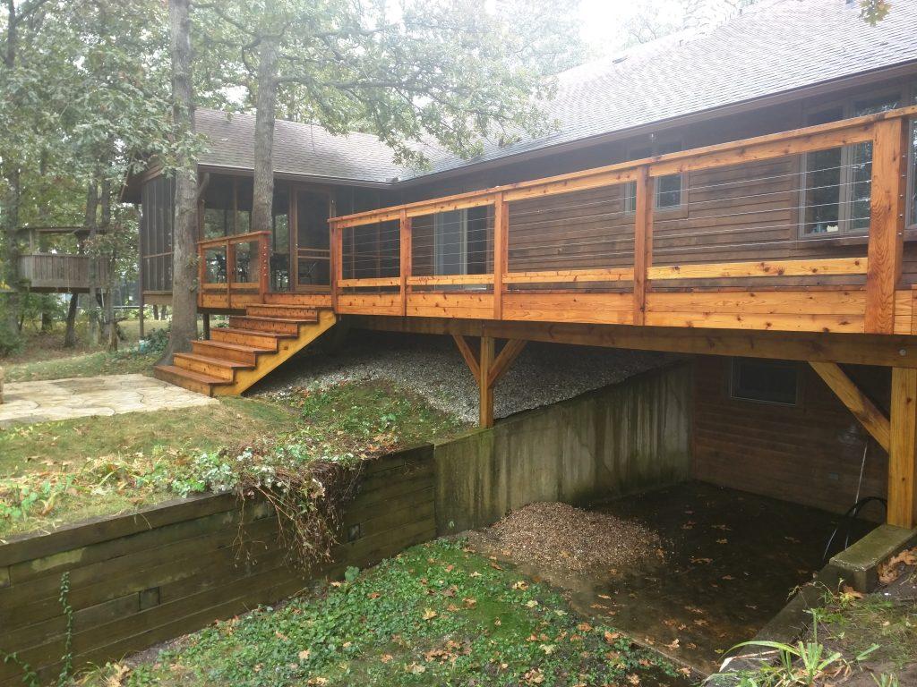 Wooden Deck Sealed in Georgia